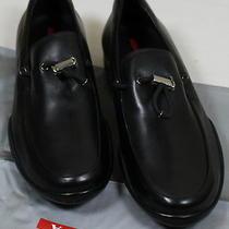 Prada Sport Shoes 545 Black Logo Toggle Vamp Iconic Logo Sole Calf 9 42 New Photo