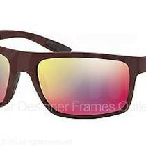 Prada Sport Sunglasses Ps 02qs Uav9q1 Shot Bordeaux Rubber 62mm Photo