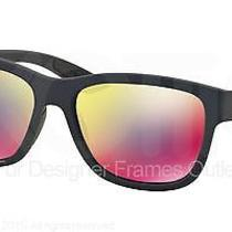 Prada Sport Sunglasses Ps 03qs Ubx9q1 Shot Grey Rubber 57mm Photo
