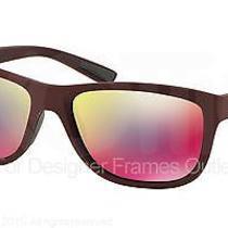 Prada Sport Sunglasses Ps 05ps Uav9q1 Shot Bordeaux Rubber 58mm Photo