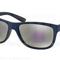 Prada Sport Sunglasses Ps 05ps Uax2e2 Shot Blue Rubber 58mm Photo