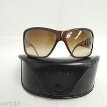 Prada Spr 09g 6413 Brown Plastic Rectangular Sunglasses W/bvlgari Case Photo