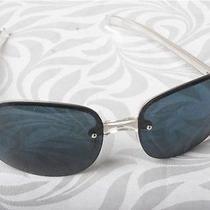 Prada Spr 12b Silver Sunglasses - Like New Photo