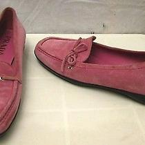 Prada Suede Loafers Shoes Sz 37.5 New Photo