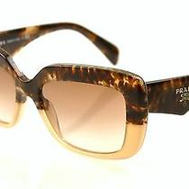 Prada Sunglasses Spr 03q Col. Rojz-0a6 Havana Fade/brown Gradient Photo