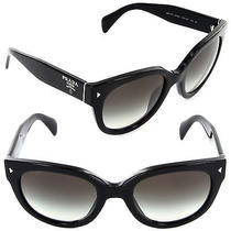 Prada Sunglasses Spr 17os 1ab-0a7 Black / Grey Gradient Lens Photo