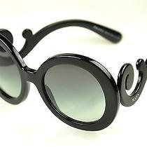 Prada Sunglasses Spr 27n  Col. 1ab-3m1 Black-Gray Gradient New Photo