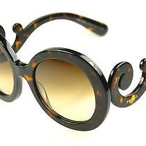 Prada Sunglasses Spr 27n  Col. 2au-6s1 Havana-Brown Gradient New Photo
