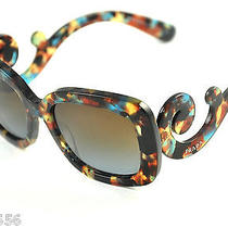 Prada Sunglasses Spr 27o Col. Nag-0a4  Spotted Havana New Photo