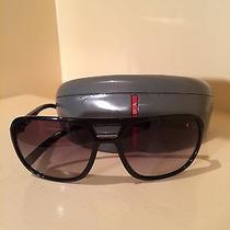 Prada Sunglasses Spr25m/ Black and Silver Photo