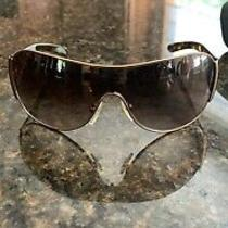 Prada Sunglasses Womens Euc Brown and Gold Photo