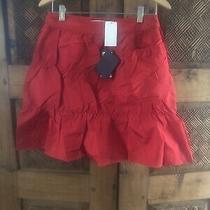 Prada Sz 38 Red Tiered Ruffle Skirt Mini With Tsgs Photo