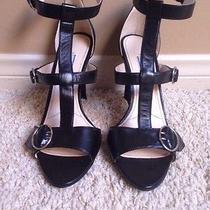 Prada T-Strap Black Leather Sandal Size 8 Photo
