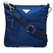 Prada Tessuto Nylon Sport Blue Messenger Crossbody Bag 1bh716 Photo
