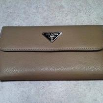 Prada Trifold Leather Wallet Photo