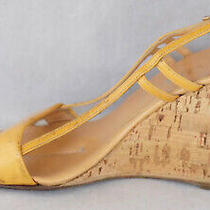 Prada Wedge Slingback Sandals Womens Shoes Size 39.5 Made in Italy  Photo