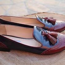 Prada Wingtips Leather Shoes Size 39.5 Eu Photo