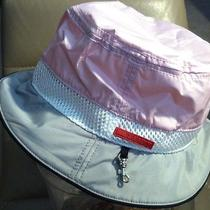 ---Prada Woman's Nylon Sun/rain/boat Hat/cap Size M --Brand New-- Photo