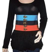 Prada Women Belt Corset - New - Croisiere - Blue Black Orange - Size M Photo