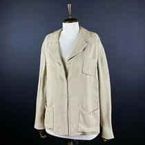 Prada Women's Beige Blazer Jacket Size 42 Photo