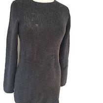 Prada Women's Gray Mohair Blend Crew Neck Sweater - Size 44 Large Photo