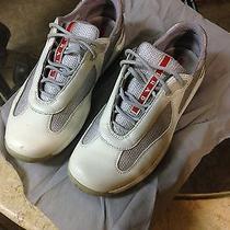 Prada Women Sneaker Cream Leather 37.5 Photo