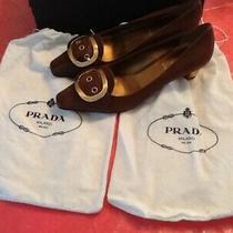 Prada Womens Calzature Donna Vacchetta Verni Loafer Shoes Patent Leather Sz 38(8 Photo