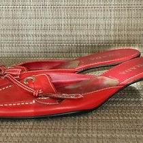 Prada Womens Shoes Red Size 38 Pre-Owned Photo