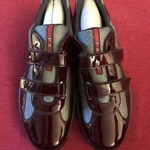 Prada World Cup Patent Leather Sneakers 11.5 Us 100 Percent Authentic Photo
