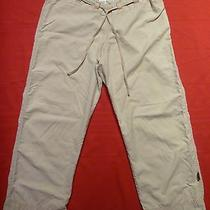 Prana Capri Pants Womens Small Beige Drawstring Waist Pockets Crop  24 in Inseam Photo