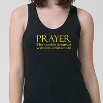 Prayer the Worlds Greatest Wireless Connection T-Shirt Cool Faith Adult Tank Top Photo