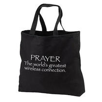 Prayer Wireless Connection New Black Cotton Tote Bag Faith Events Photo