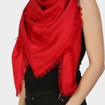Pre Loved Louis Vuitton Monogram Red Silk Scarf/shawl Photo