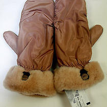 Pre-Owned 74 Ugg Australia Beige Water-Resistant Mittens Photo