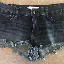 Pre-Owned Abercrombie & Fitch Blue Jean Shorts 4 Photo