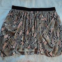 Pre Owned Armani Exchange Snake Print Mini Skirt - Size 10 Photo