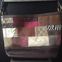 Pre-Owned Authentic Coach Holiday Patchwork Gallery Bucket/shoulder Tote (398) Photo