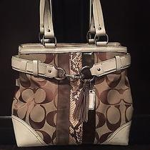 Pre-Owned Authentic Coach Multi Color Satchel/bucket Tote Photo
