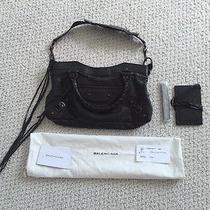 Pre-Owned Black Chevre Balenciaga First Tote Handbag Photo
