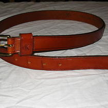 Pre-Owned  Calvin Klein Women's Medium Italian Saddle Leather Warm Brown Belt Photo