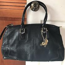 Pre-Owned Coach Black Leather Satchel Bag Photo