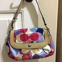 Pre-Owned Coach Handbag With Matching Wristlet Photo