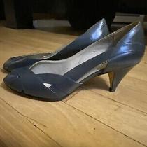 Pre-Owned Gray Bandolino Womens Open Peep Toe Pump Heels Size 8.5m Photo