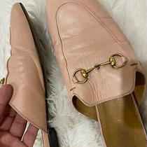 Pre-Owned Gucci Princetown Horsebit Leather Mule Blush 40.5 Photo