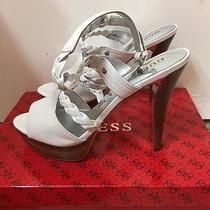 Pre-Owned Guess Women's Platform Sandals Size White 9.5 M Photo