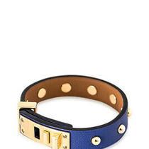 Pre-Owned Hermes Mini Dog Clous Ronds Bracelet (Blue Swift Leather) Photo