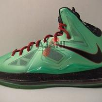 Pre-Owned Lebron X Sz 12 Jade Dolphins Area 72 Lava Prism Platinum What the Lot Photo