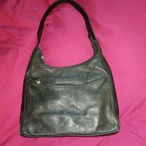 Pre-Owned Liz Claiborne Handbag Purse Black Leather Co Shoulder 11