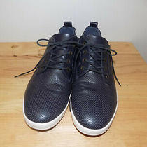 Pre-Owned Men's Aldo Blue Leather Fashion Style Sneakers - Size 10.5 Photo