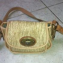 Pre-Owned Small Fossil Straw Canvas Cross Body Bag Photo